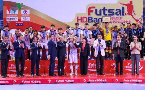 Giải Futsal Cúp QG HDBank 2018: Thái Sơn Nam bảo vệ thành công ngôi vô địch
