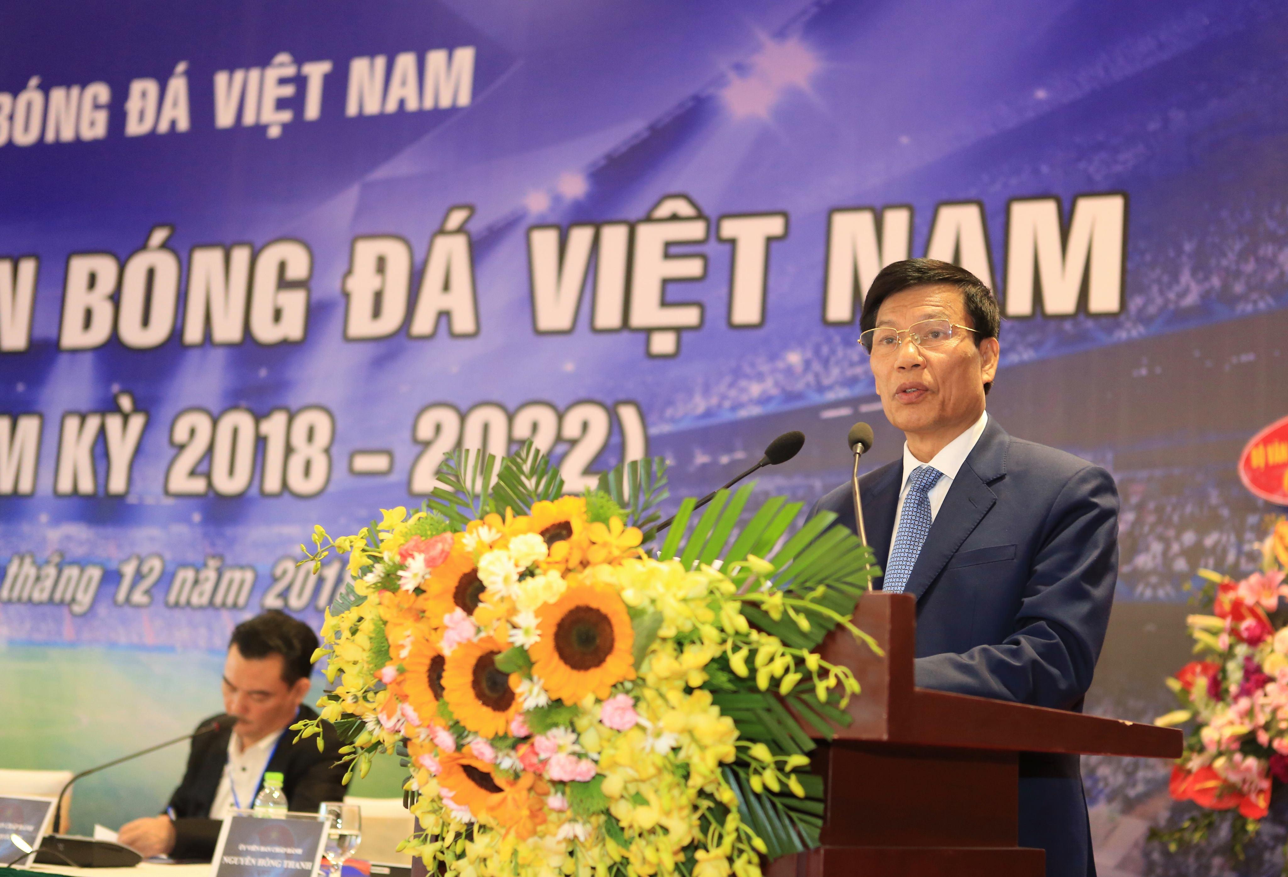 Bộ trưởng Nguyễn Ngọc Thiện đánh giá cao kết quả đạt được của LĐBĐVN khoá VII
