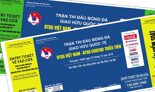 Gần 1,5 vạn vé xem trận đấu giao hữu của ĐTVN đã được giao dịch thành công