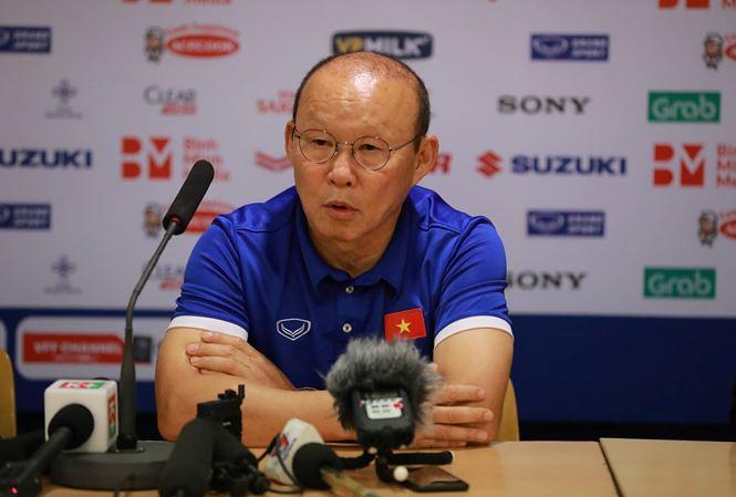 HLV  Park Hang-seo hài lòng về sự thể hiện của các cầu thủ được trao cơ hội ra sân