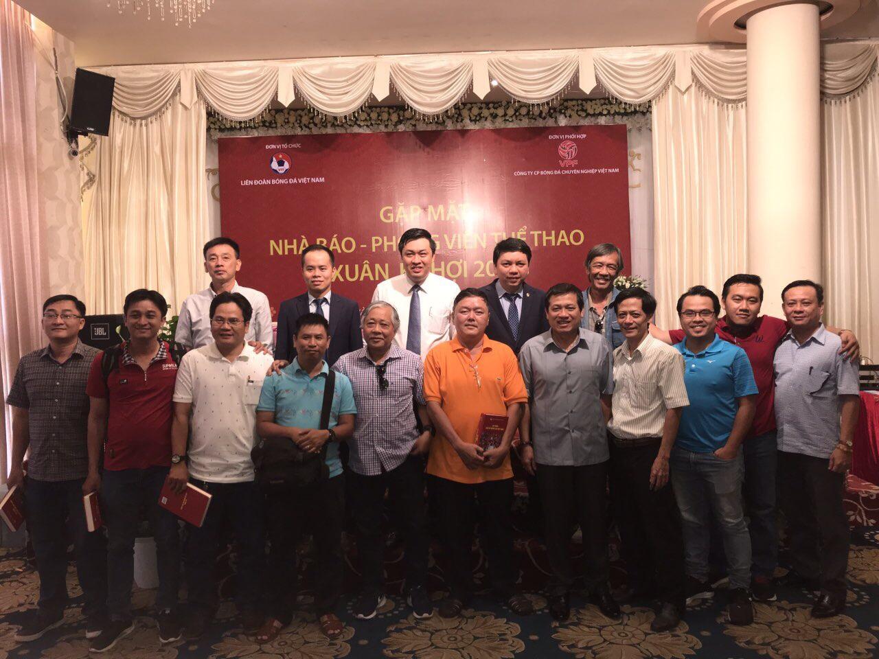 LĐBĐVN gặp mặt nhà báo thể thao khu vực phía Nam đầu xuân Kỷ Hợi 2019