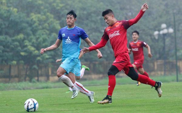 Đội tuyển U22 Quốc gia tích cực chuẩn bị cho trận giao hữu với CLB Ulsan Hyundai (Hàn Quốc)