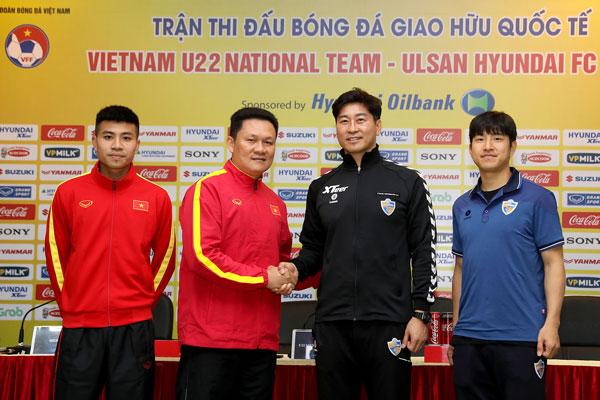 Phát biểu trước trận giao hữu quốc tế giữa ĐT U22 Việt Nam – CLB Ulsan Hyundai, 17h00 ngày 26/1/2019 tại SVĐ Hàng Đẫy