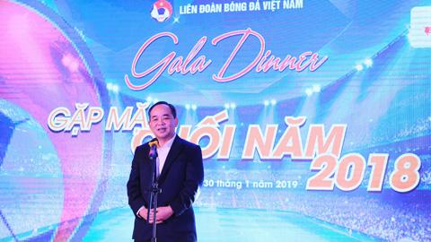 Gala tổng kết cuối năm: Chủ tịch Lê Khánh Hải cảm ơn đóng góp của các thành viên VFF