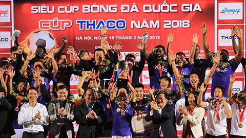 Thắng B.Bình Dương 2-0, Hà Nội đoạt Siêu Cúp QG - Cúp THACO 2018