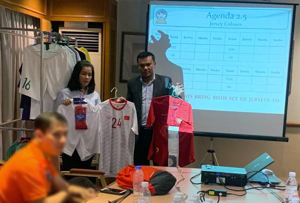 Họp kỹ thuật trước vòng bán kết AFF U22 LG Cup 2019: U22 Việt Nam chọn trang phục màu trắng