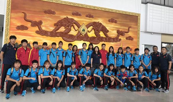 Vòng loại thứ hai U16 châu Á 2019: Đội tuyển U16 nữ Việt Nam đã có mặt tại Lào và sẵn sàng