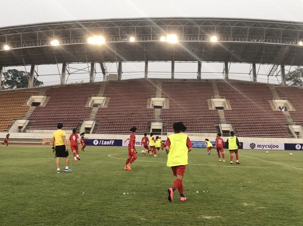 VL2 giải U16 nữ châu Á 2019 (bảng A): Việt Nam tập làm quen sân chính, quyết tâm giành 3 điểm trước chủ nhà Lào