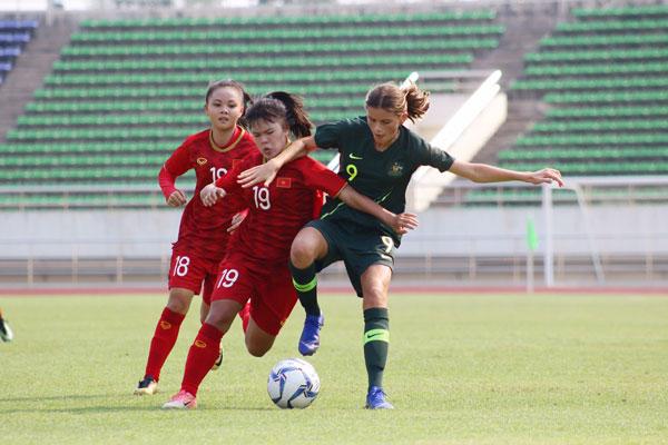 VL 2 giải U16 nữ châu Á 2019 (bảng A), Việt Nam vs Australia: 0-1