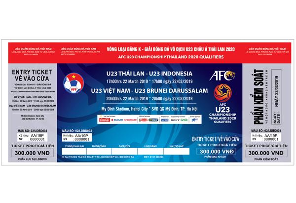 Thông báo bán vé vòng loại giải U23 châu Á 2020, bảng K (Việt Nam)