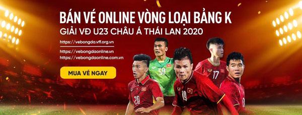 Thông tin bán vé online các trận đấu vòng loại bảng K – giải VĐ U23 châu Á Thái Lan 2020: Liên tục bổ sung vé bán