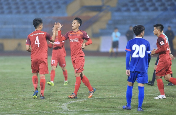 Đấu tập, U23 Việt Nam vs. U23 Đài Bắc Trung Hoa: 6-1