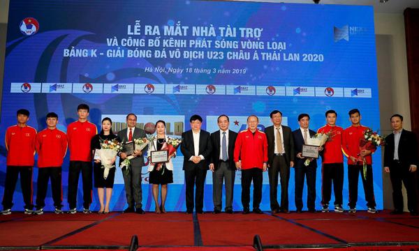 Công bố Nhà tài trợ và công bố kênh phát sóng các trận đấu vòng loại bảng K giải VĐ U23 châu Á 2020