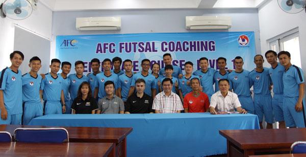 Bế giảng khóa học HLV Futsal level 1 AFC