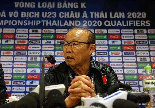 """HLV Park Hang-seo: """"Hôm nay các cầu thủ đã phát huy tinh thần của người Việt Nam"""""""