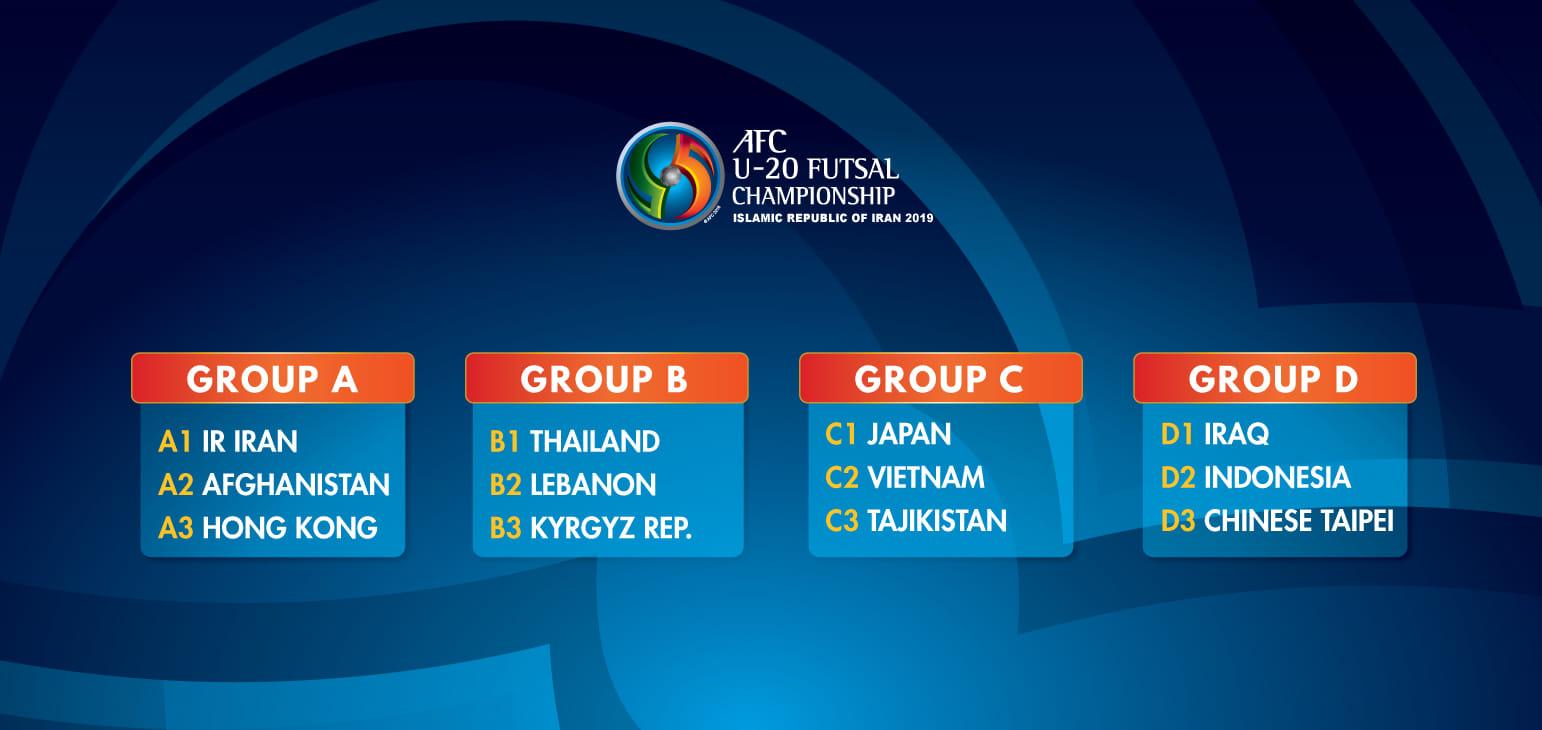 ĐT U20 futsal Việt Nam tái ngộ Nhật Bản và Tajikistan tại VCK châu Á 2019