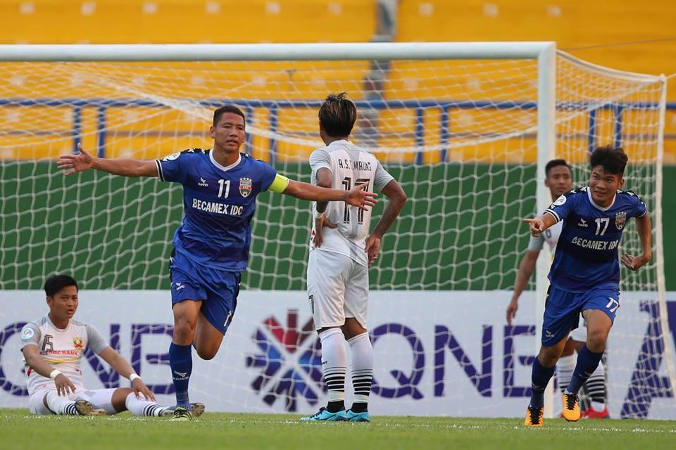 [AFC Cup 2019] Thắng đậm Shan Uinted 6-0, B.Bình Dương vươn lên nhì bảng
