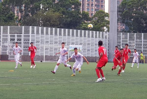 U18 Việt Nam giành trọn 3 điểm trong trận ra quân tại Giải U18 Quốc tế Hong Kong 2019