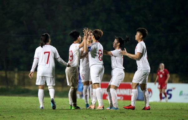 VL 2 U19 nữ châu Á 2019 (bảng B), Việt Nam - Li Băng: 4-1