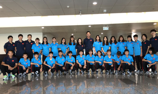 Đội tuyển U15 nữ Việt Nam tham dự giải U15 nữ Đông Nam Á 2019