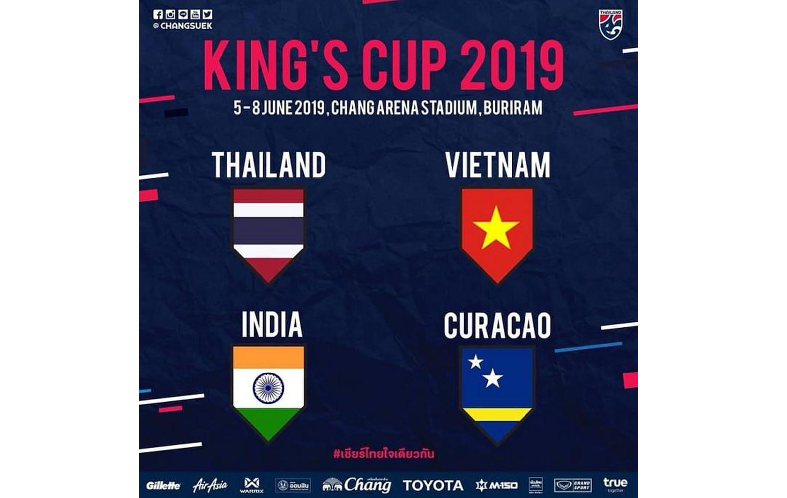 Thông báo hướng dẫn đăng kí thẻ PV giải King's Cup 2019 (Thái Lan)