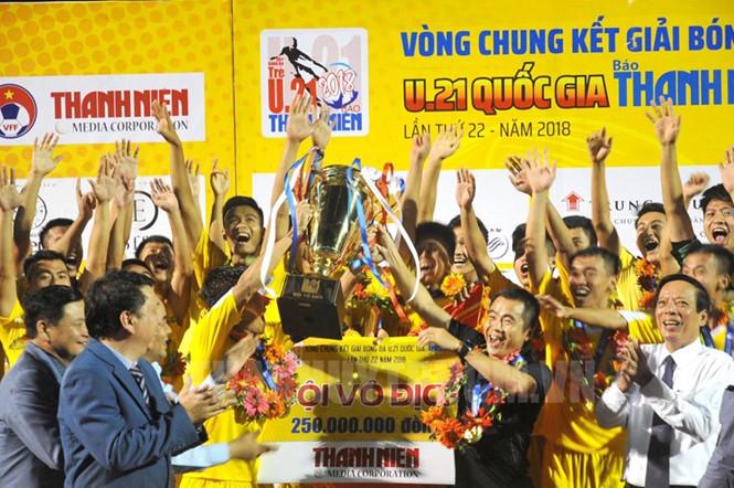 22 đội tham dự vòng loại giải bóng đá U.21 quốc gia năm 2019