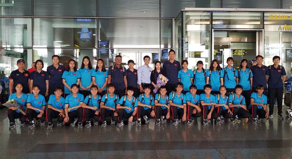 Đội tuyển U15 nữ Việt Nam về nước, khép lại chuyến thi đấu giải U15 nữ ĐNA 2019