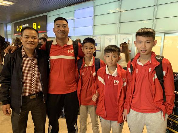 Cầu thủ nhí Việt đã đến Tây Ban Nha dự World Cup 2019