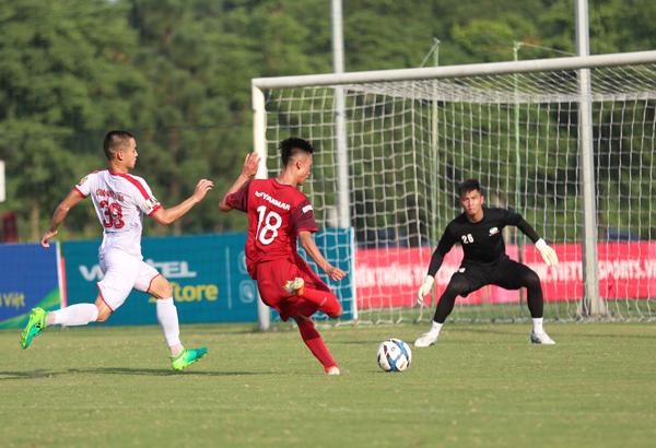 U23 Việt Nam hoà không bàn thắng trong trận đấu tập với CLB Viettel