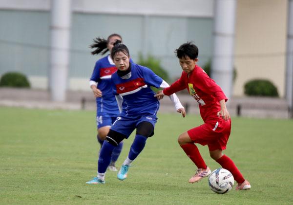 Đấu tập (11/7), ĐT U19 nữ QG vs U19 nữ Hà Nội: 2-0