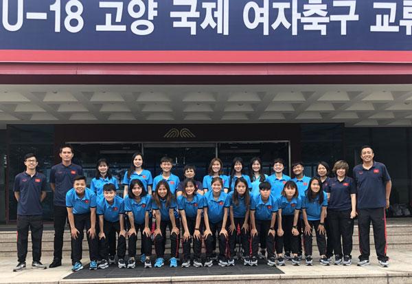 Đội tuyển U19 nữ Việt Nam được đón tiếp chu đáo tại Hàn Quốc