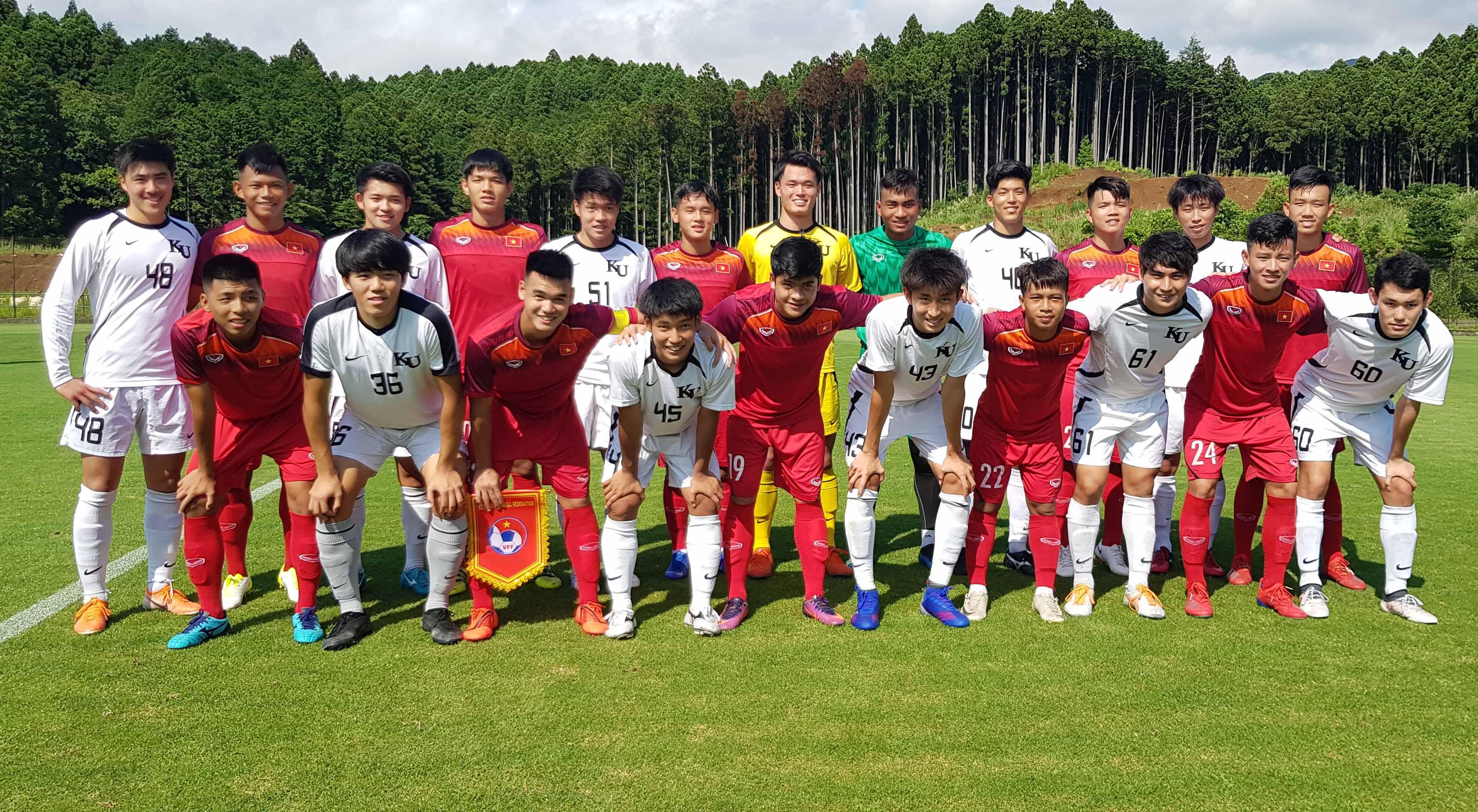 Đấu tập tại Gotemba, U18 Việt Nam vs. Tuyển SV trường Đại học Kanagawa: 1-1