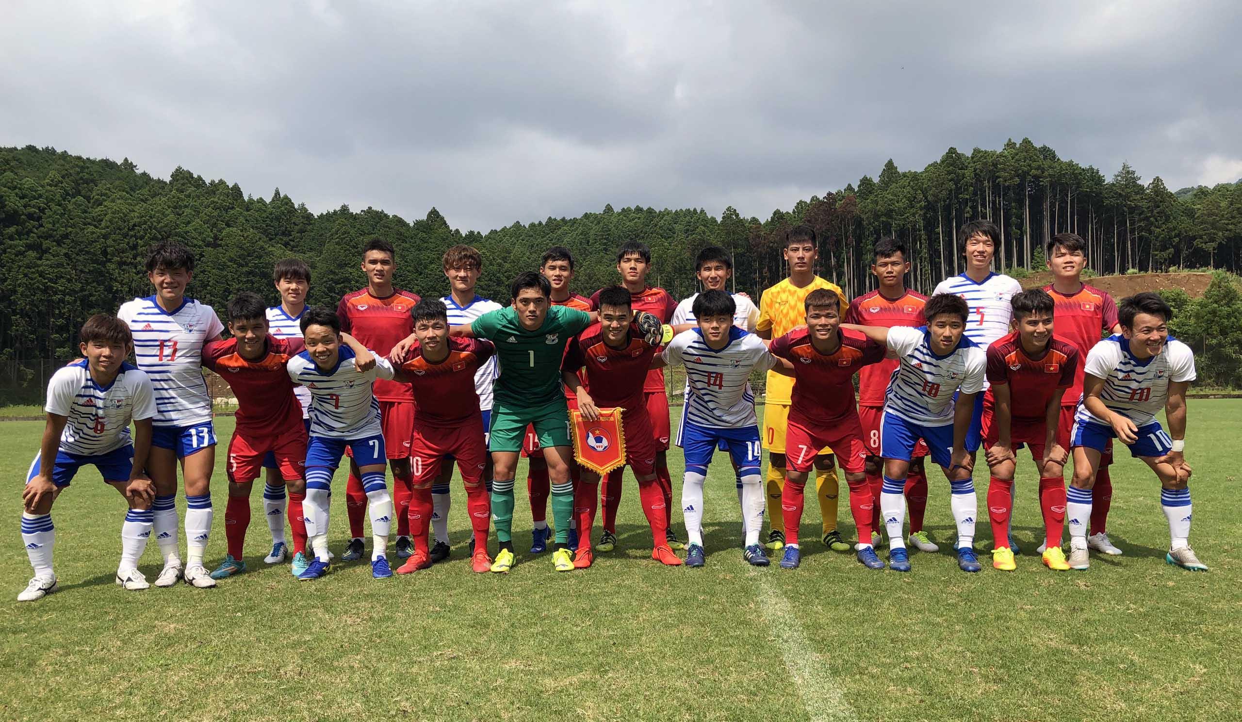 Đấu tập tại Gotemba, U18 Việt Nam – Tuyển SV ĐH Nihion Kou Gakuen: 1-2