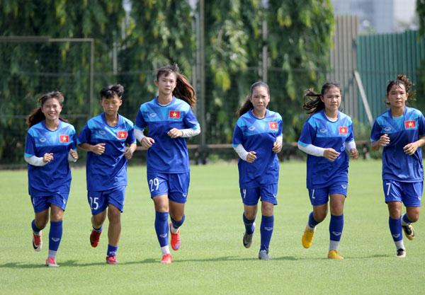 Đội tuyển U15 nữ Quốc gia tập trung chuẩn bị tham dự giải U15 nữ Quốc tế