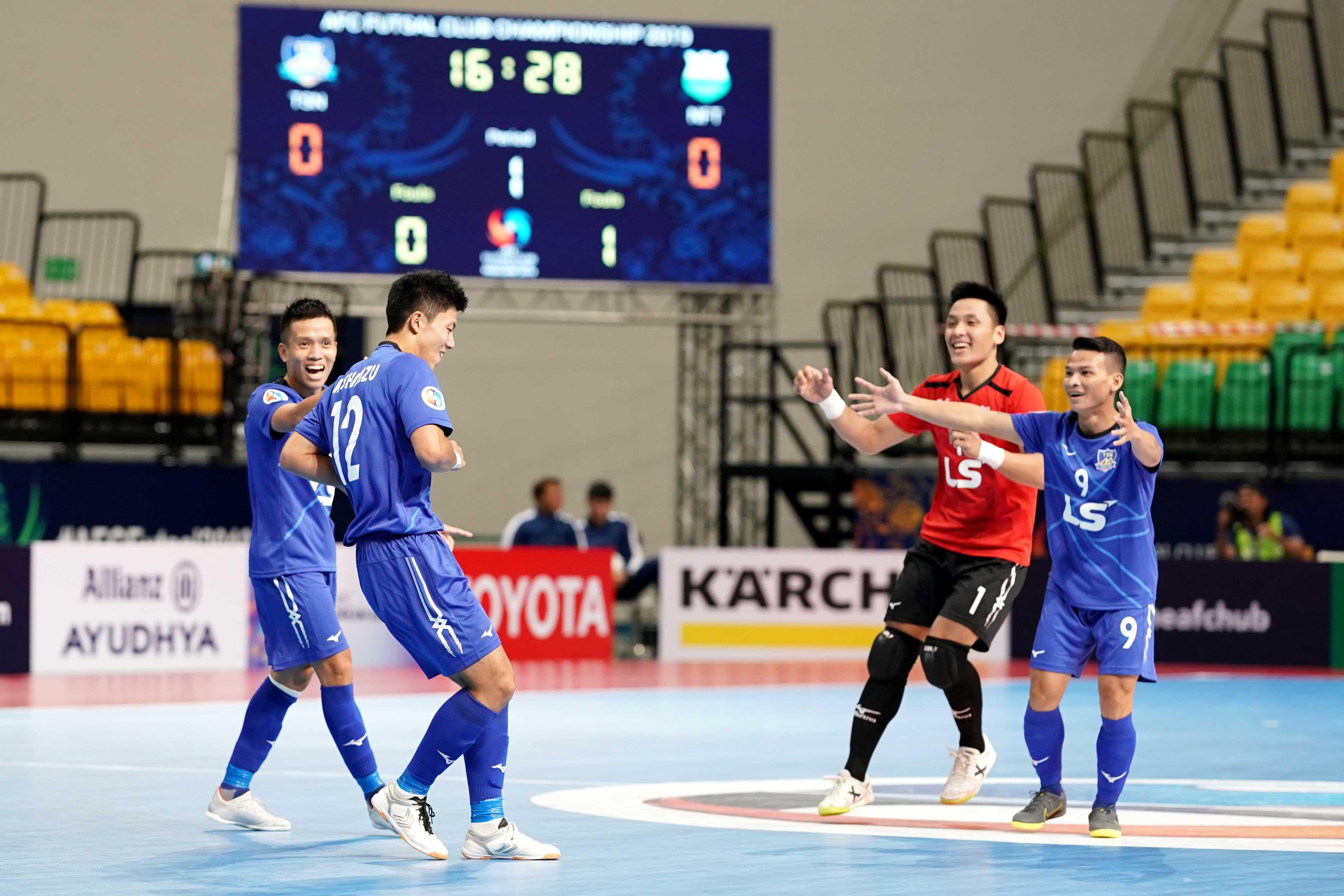 Thái Sơn Nam vào Tứ kết giải futsal CLB châu Á 2019 với 3 trận toàn thắng