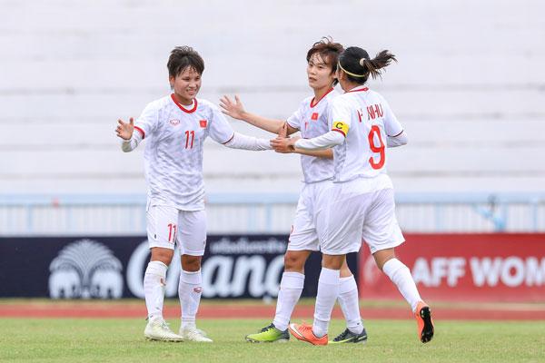 Việt Nam toàn thắng ở vòng bảng giải bóng đá nữ Vô địch Đông Nam Á 2019