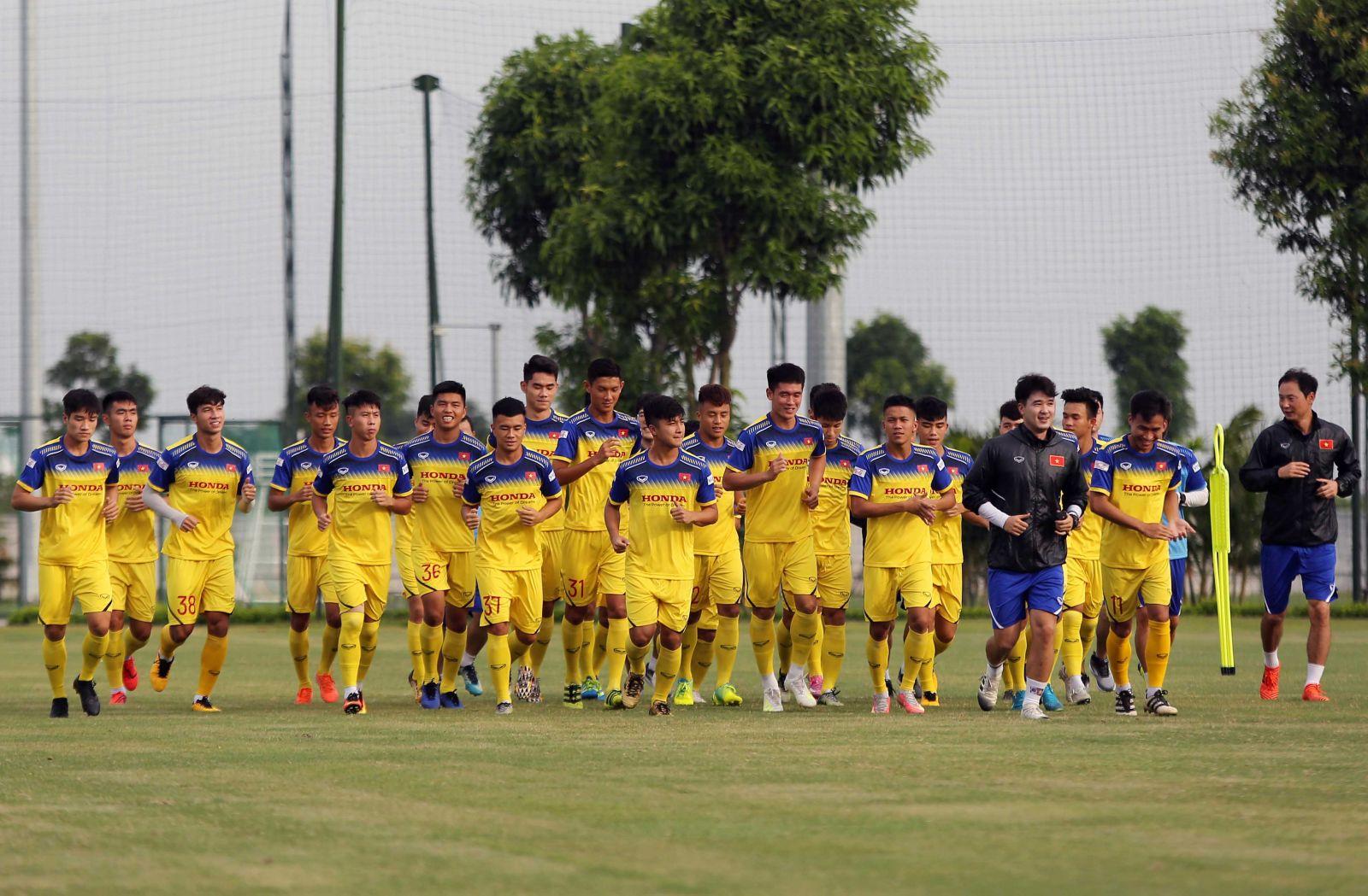 Danh sách ĐT U22 Việt Nam tập trung chuẩn bị cho chuyến du đấu tại Trung Quốc