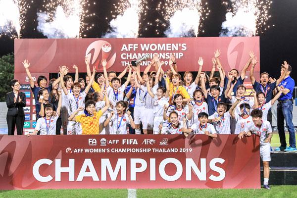 Thắng Thái Lan, Việt Nam vô địch giải bóng đánữ Đông Nam Á 2019