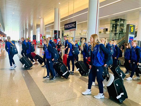 U15 nữ Quốc tế 2019: Các đội có mặt tại Hà Nội, hào hứng và ấn tượng với sự đón tiếp chu đáo