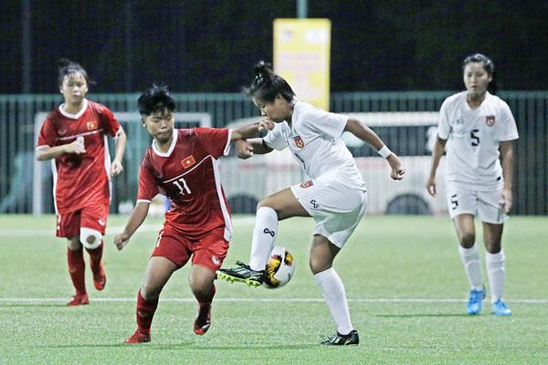 Giải bóng đá nữ U15 Quốc tế 2019 (1/9), Việt Nam vs Myanmar: 0-3