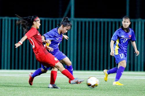 Giải bóng đá nữ U15 Quốc tế 2019, ĐT U15 Việt Nam – U15 Hồng Kông: Nỗ lực bất thành