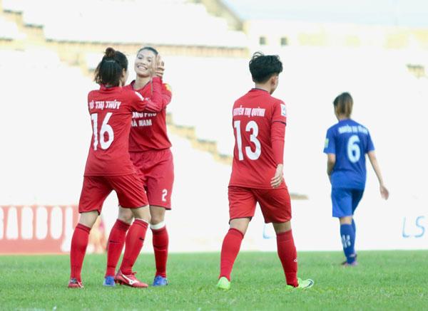 Vòng 8 giải nữ VĐQG – Cúp Thái Sơn Bắc 2019: PP.Hà Nam, ThanKSVN thắng đậm