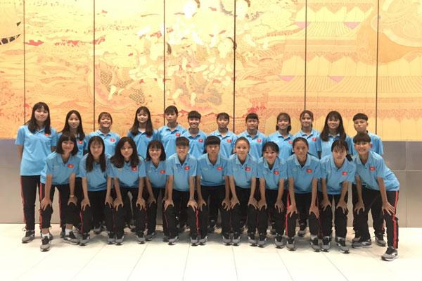Thông tin đội tuyển U16 nữ Việt Nam tại Chonburi, Thái Lan ngày 13/9