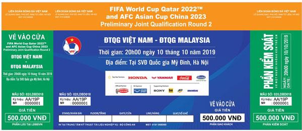 Thông báo kế hoạch bán vé vòng loại 2 World Cup 2022, bảng G (Việt Nam)