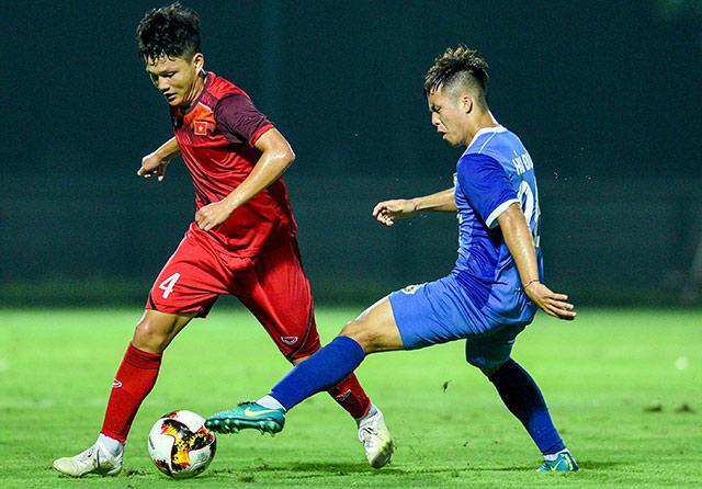U19 Việt Nam đá tập 2 trận với 2 đối thủ khác nhau trong một buổi chiều