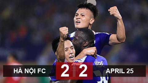 Hà Nội FC 2-2 April 25: Tiếc cho chủ nhà
