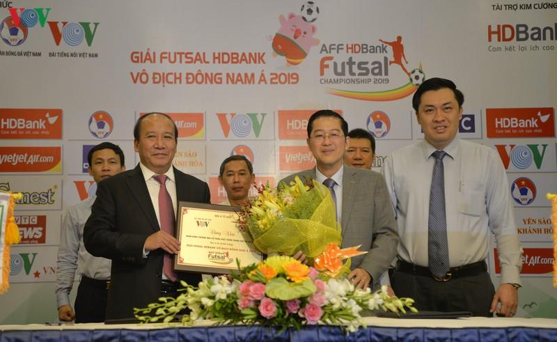 Công bố Nhà tài trợ chính, Nhà tài trợ đồng hành Giải futsal HDBank vô địch Đông Nam Á 2019