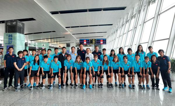Đội tuyển U19 nữ Việt Nam sang Thái Lan tham dự VCK U19 nữ châu Á 2019