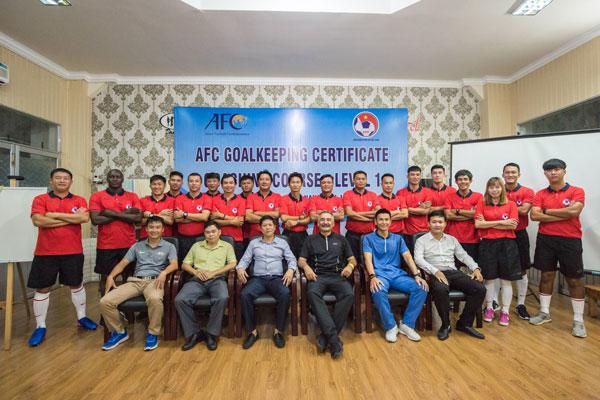 Khai giảng khóa học HLV thủ môn cấp 1 AFC tại Đà Nẵng