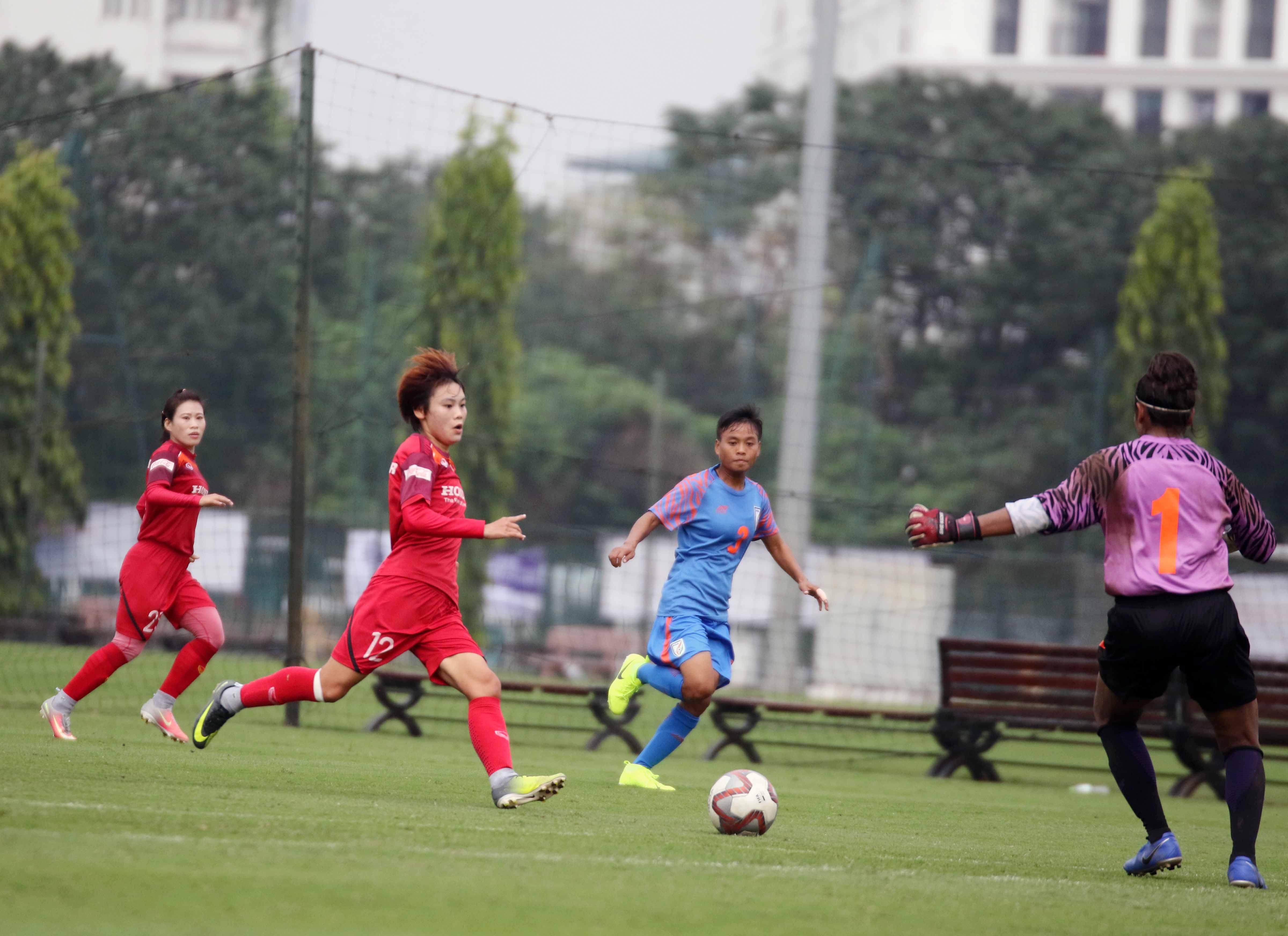 Thi đấu giao hữu, ĐT nữ Việt Nam thắng ĐT nữ Ấn Độ 3-0
